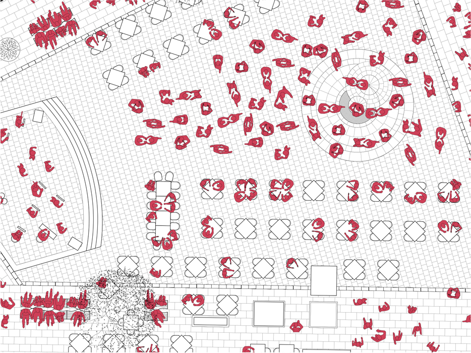 Infra-ordinario - mapping of people in the dance event in the Plazuela square_thumbnail