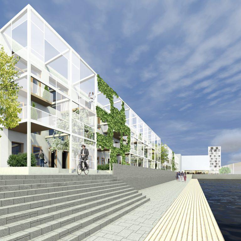 Lo-fi architecture flexible townhouse type housing exterior