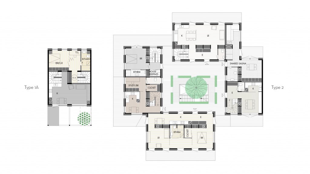 Lo-fi architecture plan examples