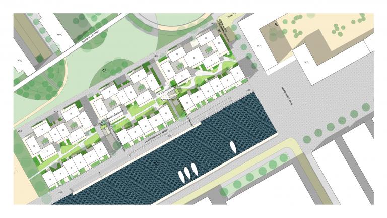 Lo-fi architecture site plan in Helsinki