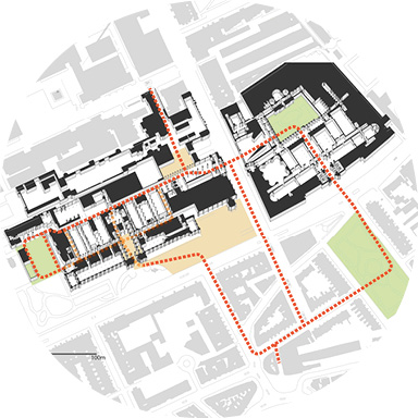 Natural History Museum concept of routes