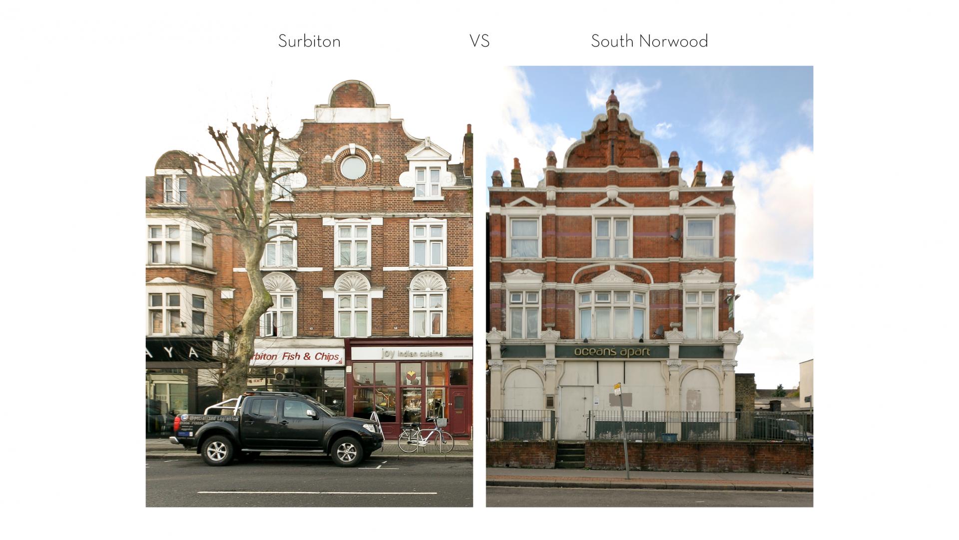 Urban morphology & building adaptation - area comparison