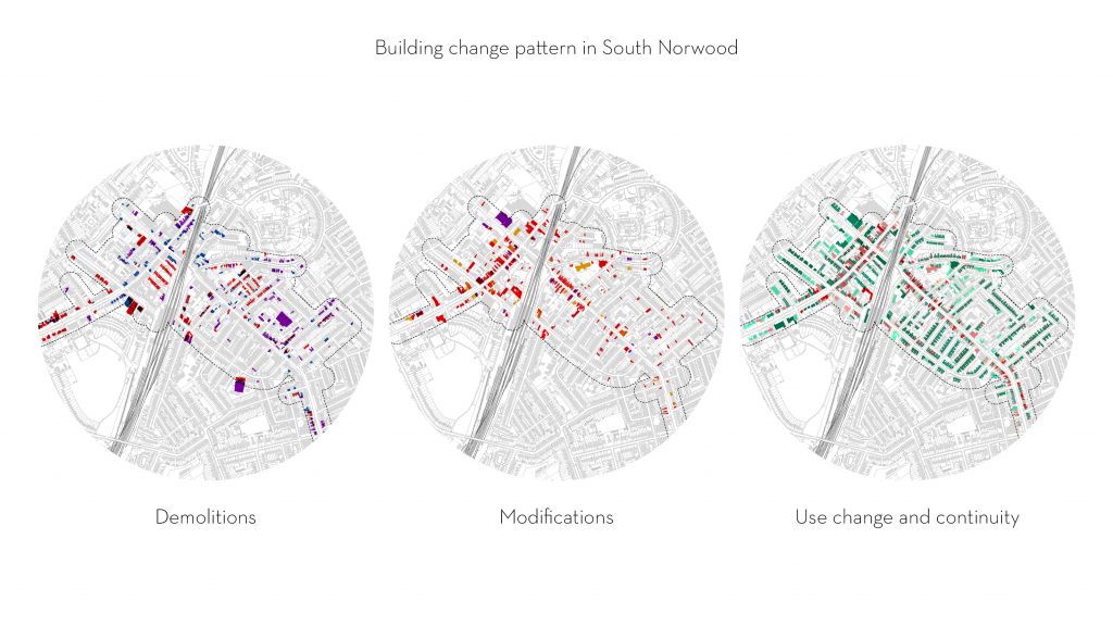Urban morphology & building modification, demolition and use change in a London town centre
