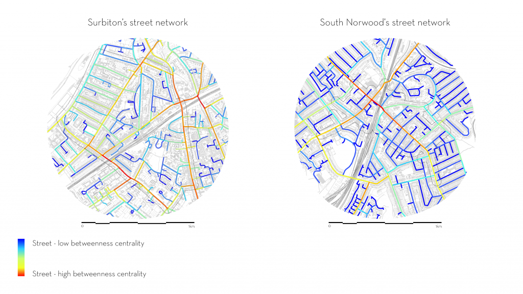 Urban morphology & building change - space syntax street network comparison in London town centres