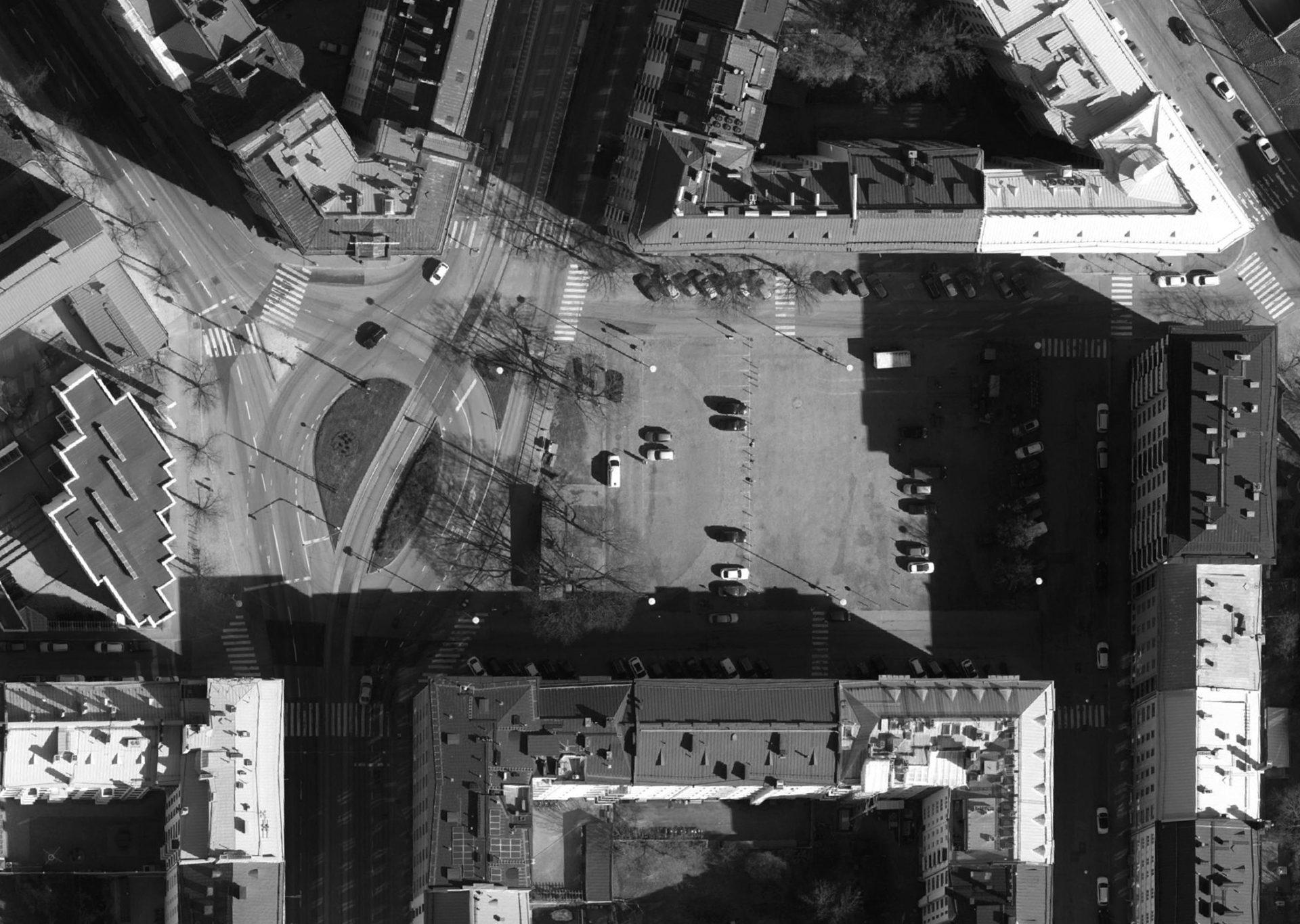 Töölöntorin ilmakuva aerial photograph
