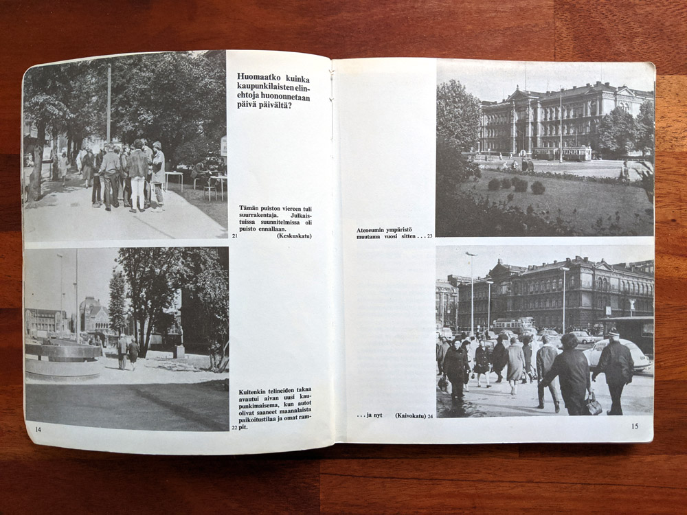 A spread of the Kenen Helsinki pamphlet on human-centric planning